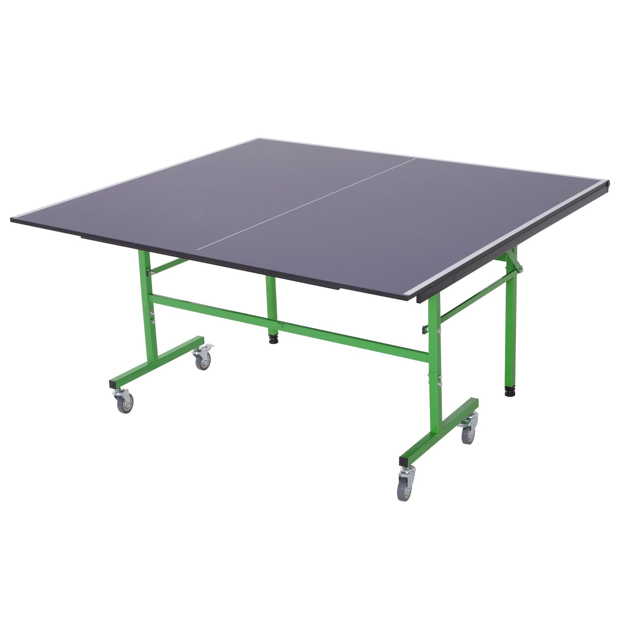 Patas Pong Ruedas Con Azul De Acero Ajustables Mesa Plegable Ping lK1T3uFJc