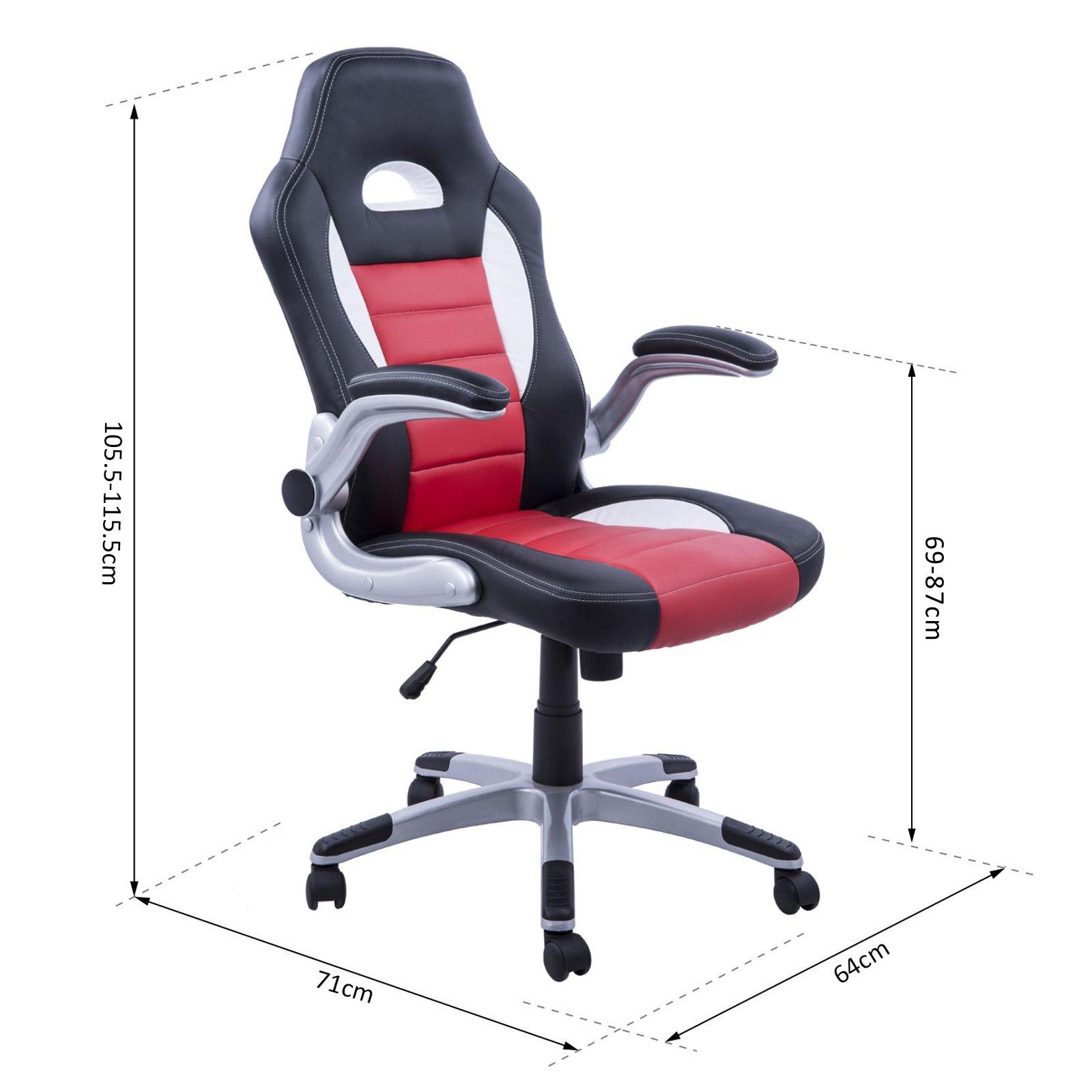 Silla de Oficina Racing Deportiva para Despacho tipo Silla Ejecutiva modo  giratorio Negro Rojo Bla