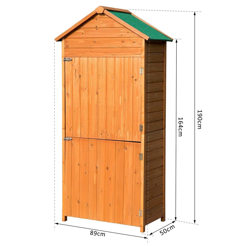 Caseta de jard n exterior tipo cobertizo de madera y armario exterior de almacenamiento - Armario de madera para exterior ...