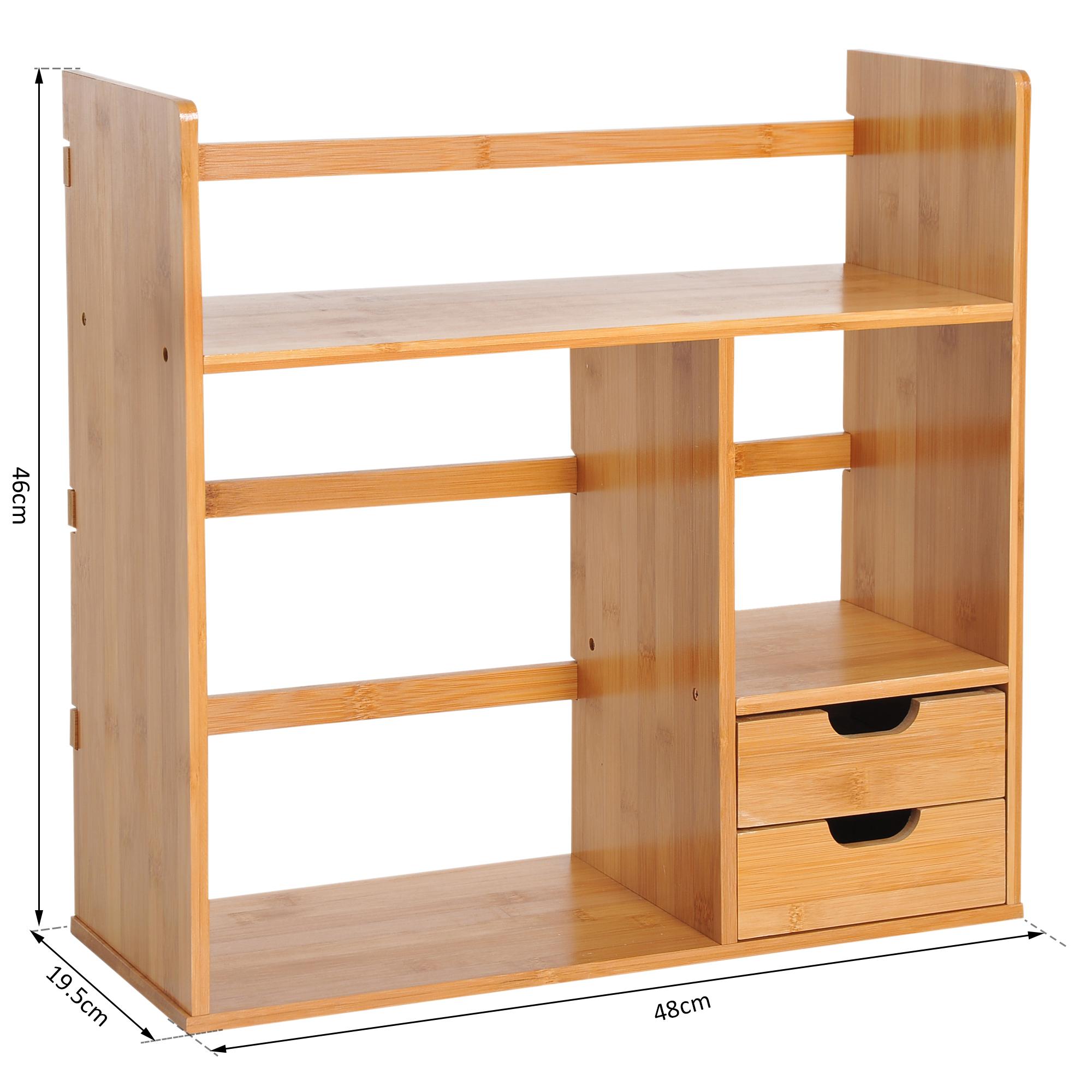 98dbe0755 Organizador de Escritorio Mesa de Bambú para Oficina Libros