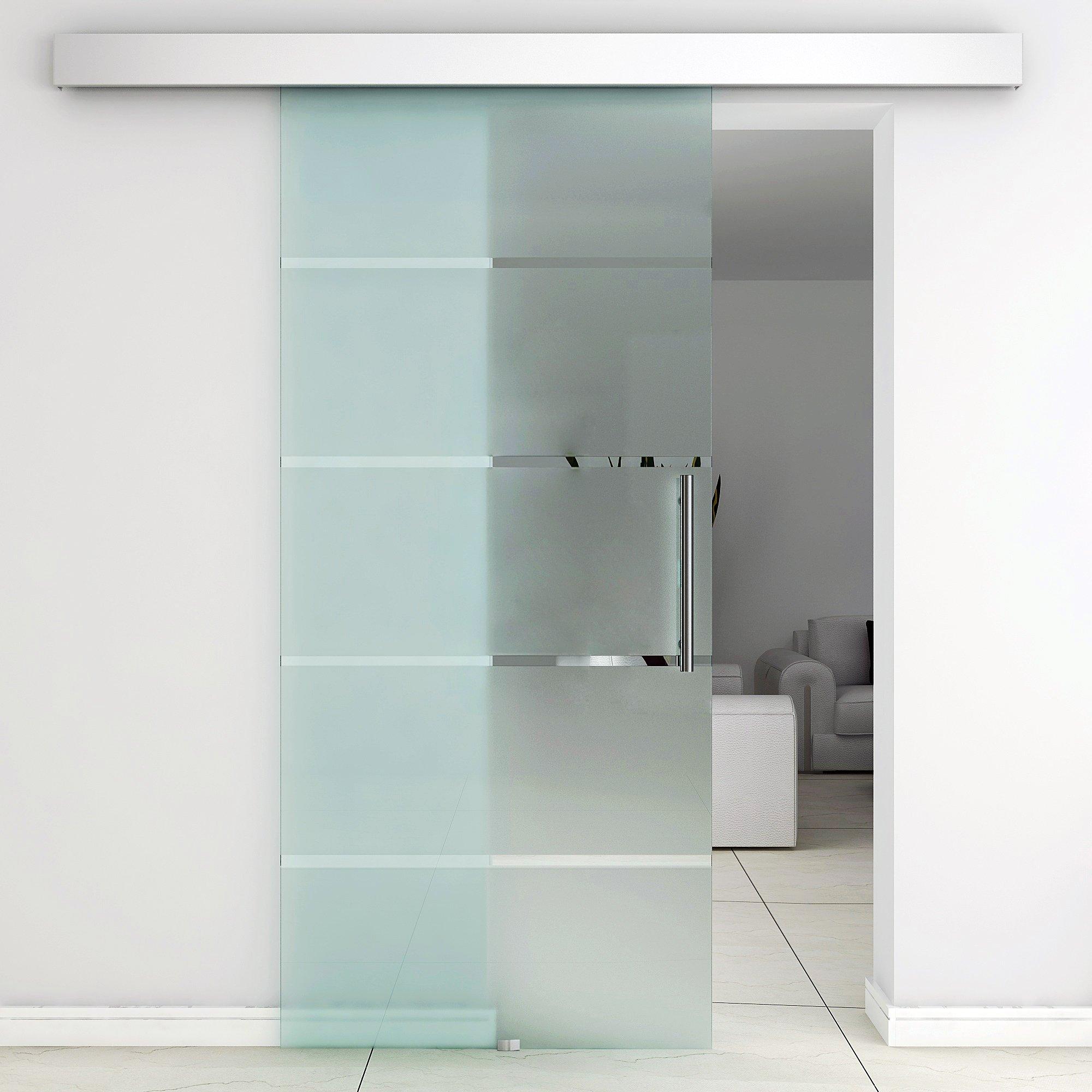 Puerta corredera cristal puertas de interior puerta de granero - Puertas interior cristal ...
