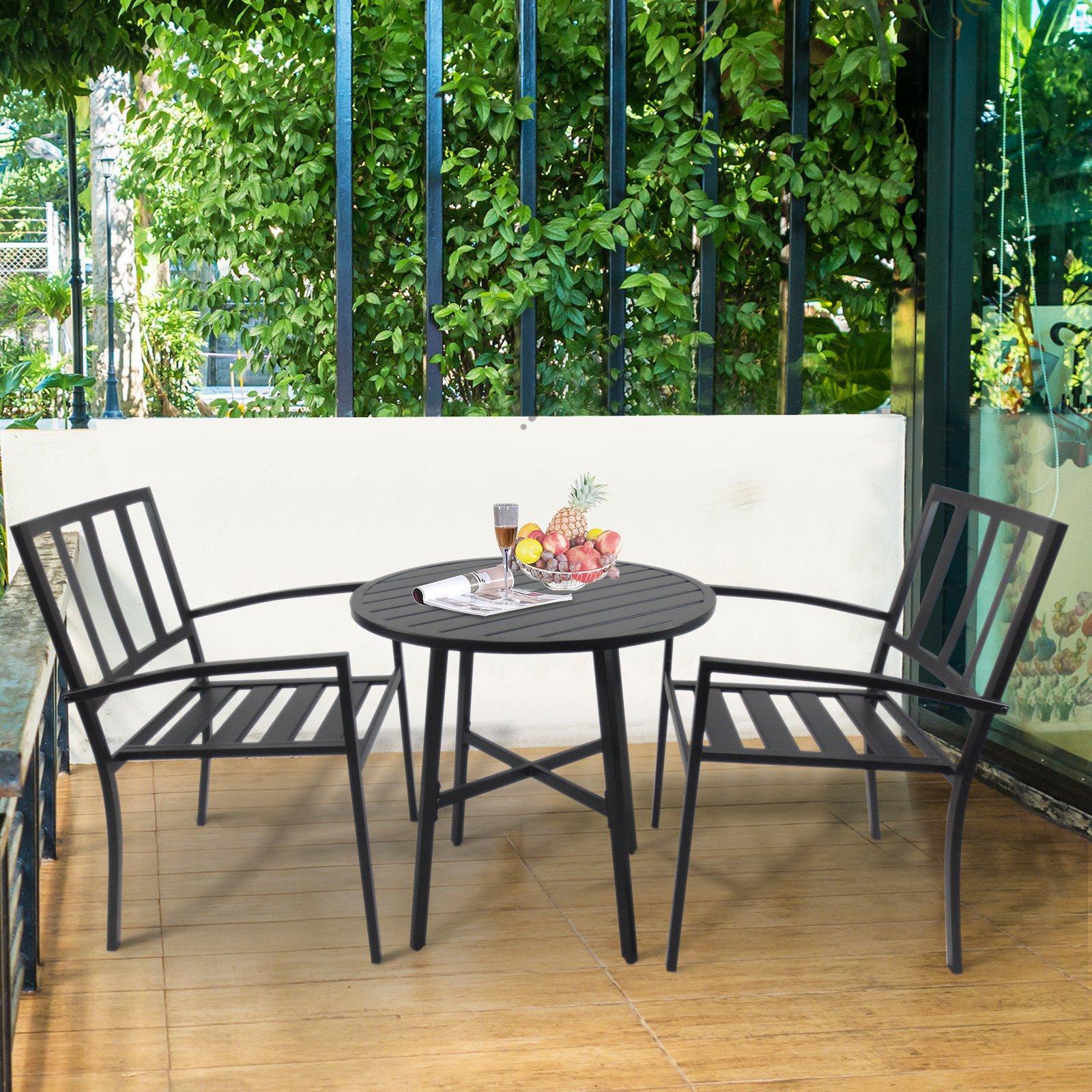 Conjuntos de Mesa y 2 Sillas de Jardín Muebles Comedor Exterior ...