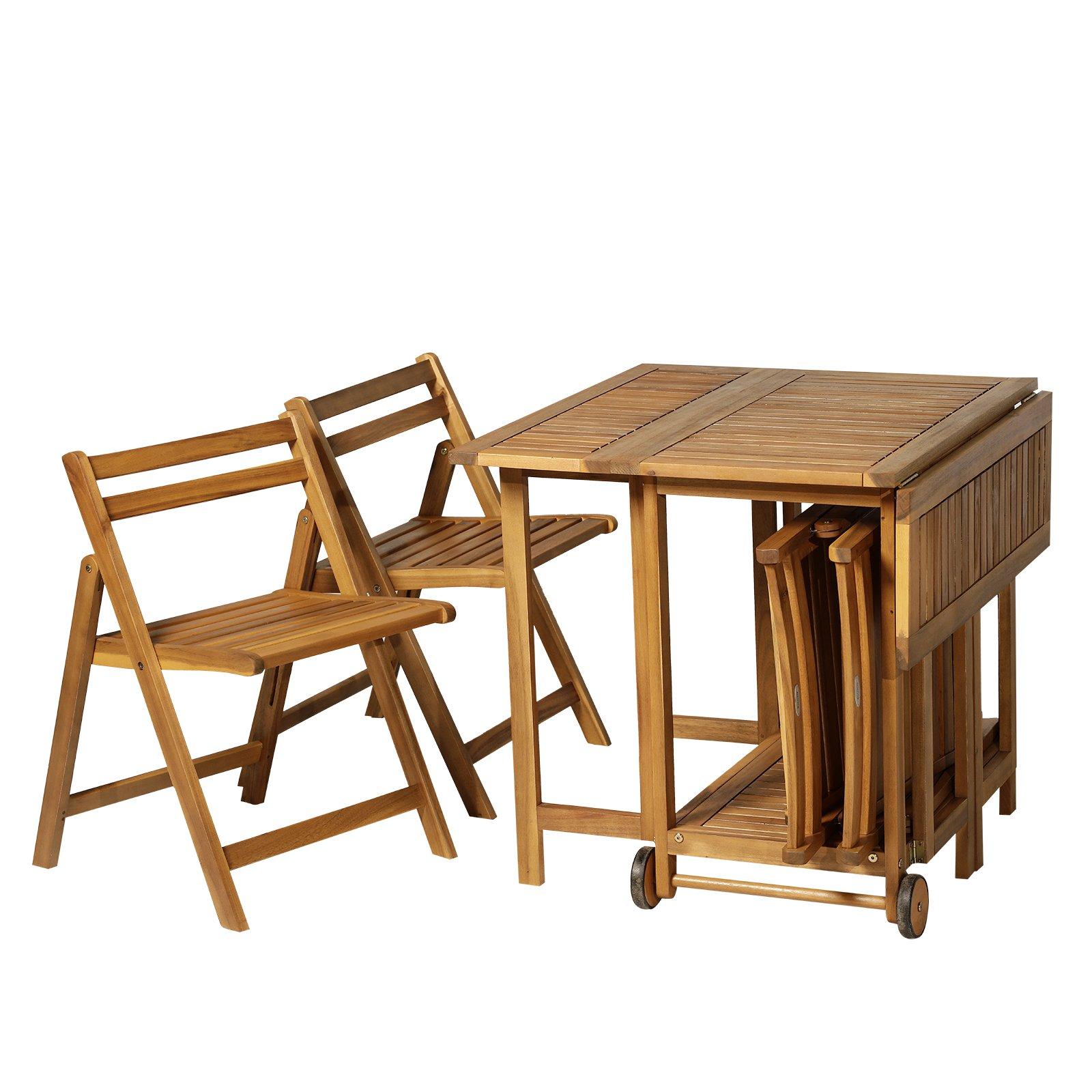 Hogar y cocina Muebles Juego de 5 Piezas Extensible 1 mesa y ...