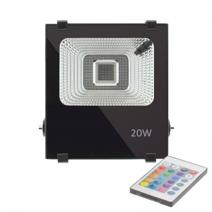 PROYECTOR LED NEWPRO RGB, 20W, RGB, REGULABLE