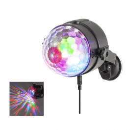 Mini Bola de Discoteca NGS USB Party Lights SPECTRA RAVE