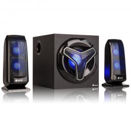ALTAVOCES GAMING 2.1 NGS GSX-210 - 80W - BLUETOOTH - USB/SD/AUX IN - FM - ILUMINACIÓN LED