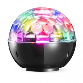 ALTAVOZ BLUETOOTH DENVER BTL-65 CON ILUMINACIÓN DISCO LIGHT - 2*3W - AUX-IN - ALCANCE 8-10M - BATERÍ
