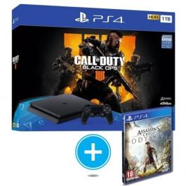 SONY PS4 Slim 1TB + Call Of Duty Black OPS 4 + Assasins Creed Odyssey