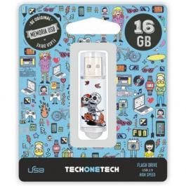 Pendrive TECH ONE TECH Calavera Moto 16GB USB 2.0