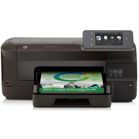 IMPRESORA HP OFFICEJET PRO 251DW - 20PPM NEGRO/15PPM COLOR - RESOLUCION 1200X1200PPP - DUPLEX - RED