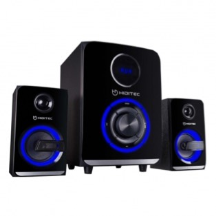 ALTAVOCES 2.1 HIDITEC H500 - 50W RMS - SUBWOOFER 5.25 - SATELITES 3 - BLUETOOTH