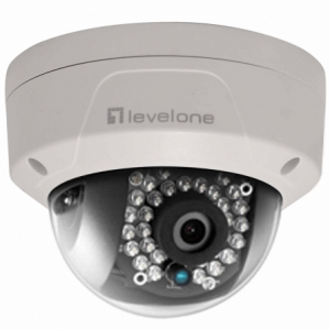 CAMARA IP LEVEL ONE FCS-3084 - 2MPX - EXTERIOR - PoE 802.3af - MICRO SDHC/SDXC - LED INFRARROJOS 30M