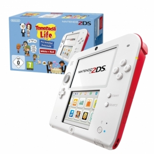 Consola NINTENDO 2DS White y Red + Tomodachi Life