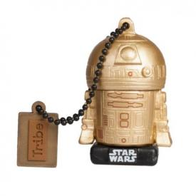Pendrive TRIBE Star Wars R2D2 Gold TLJ 16 GB USB 2.0