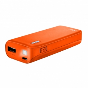Batería Externa TRUST PRIMO PowerBank 4400 Neon Orange
